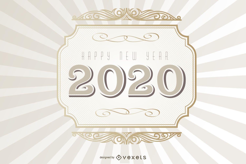 2020 Typography Vintage Background