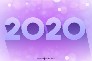 2020 Pink Purple Glowing Bokeh Background