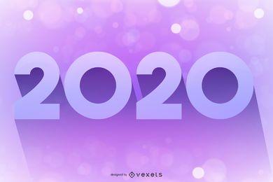 Fondo de Bokeh que brilla intensamente púrpura rosado 2020