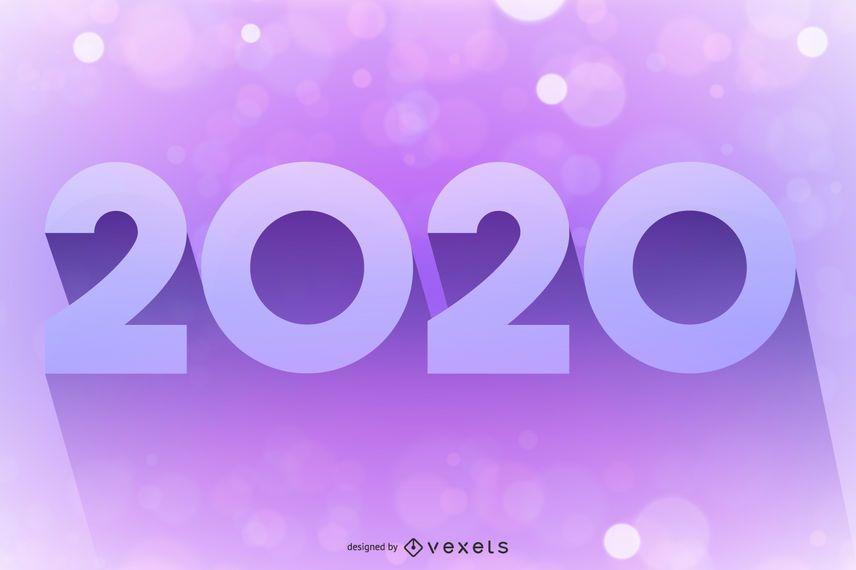 2020 Pink Purple Glowing Bokeh Background