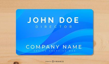 Blue Waves Business Card Design