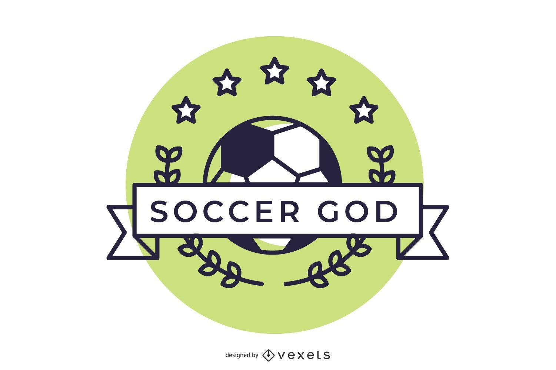 Diseño de logotipo hermoso de deportes de fútbol