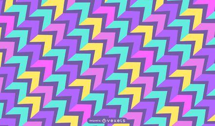 Patrón de rectángulos oblicuos coloridos abstractos de punta de flecha