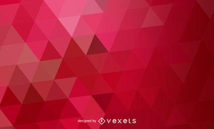 Patrón de triángulos poligonales abstracto rojo
