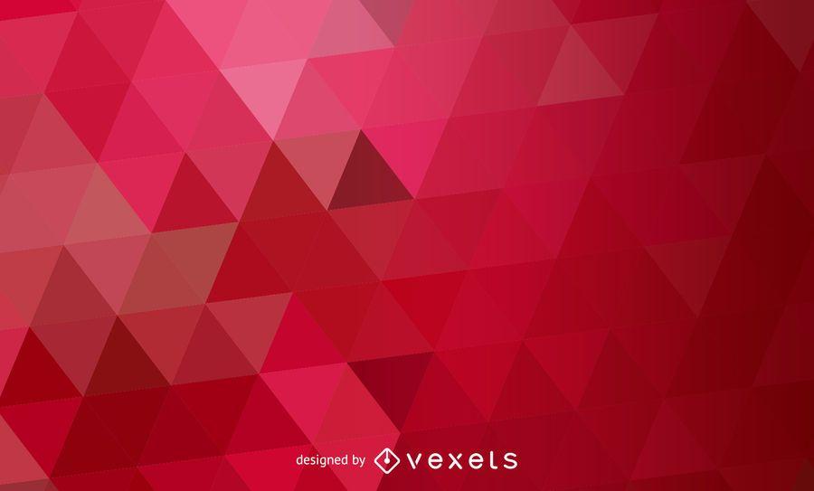Padrão de triângulos poligonal abstrato vermelho