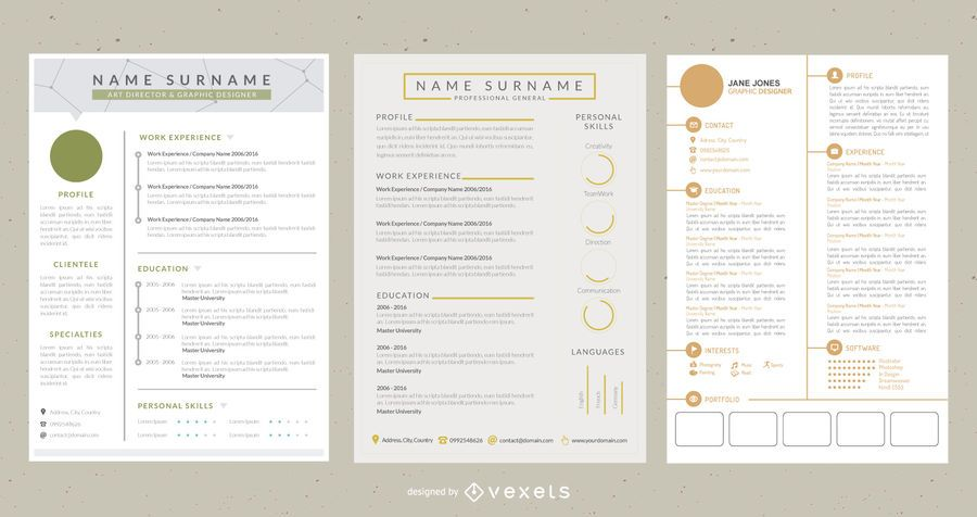 Classic Style Elegant 4 Pages CV Template