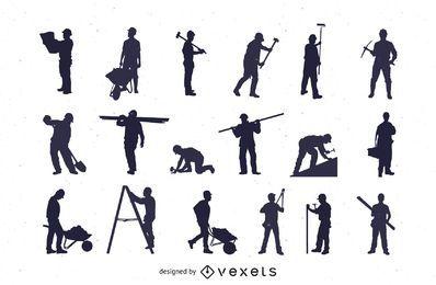Silhouette Labour Profession Pack