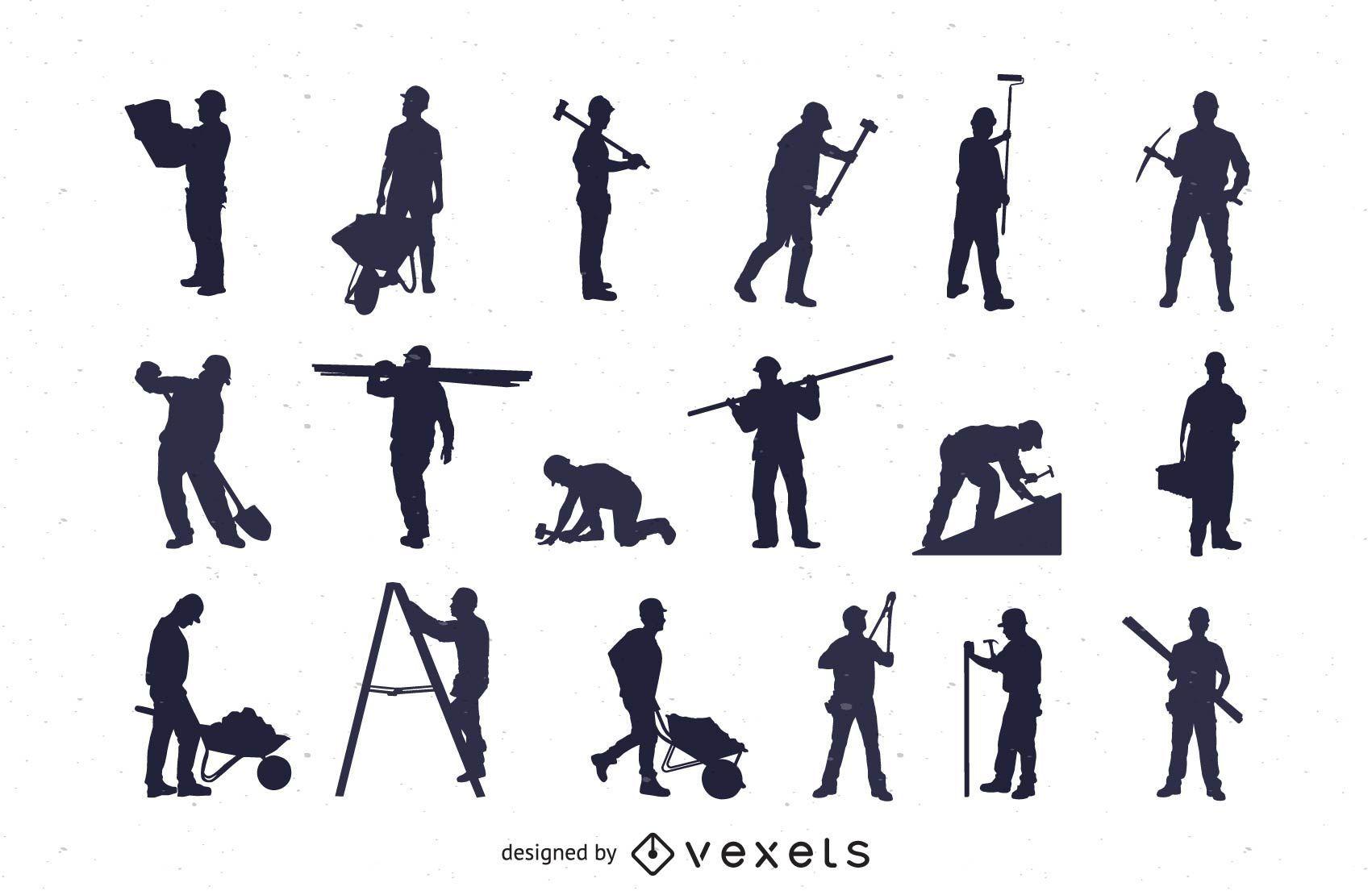 Silhouette Labor Profession Pack