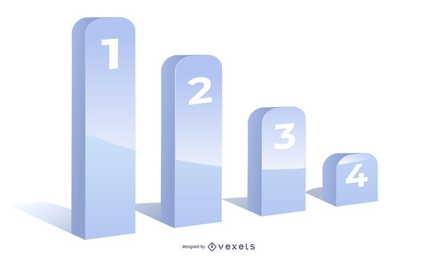 Grey 3D Growing Chart Infographic Template