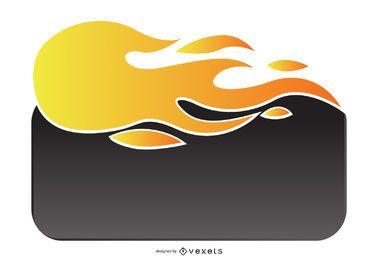 Plantilla de caja web de llama de fuego de venta caliente