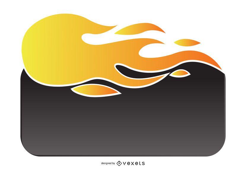 Plantilla de cuadro de web de llama de fuego de venta caliente