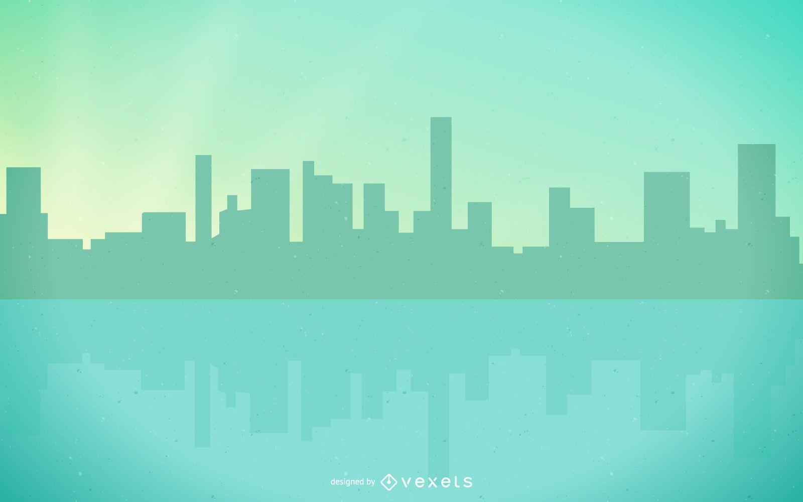 Geometric Abstract Green Lakeside City