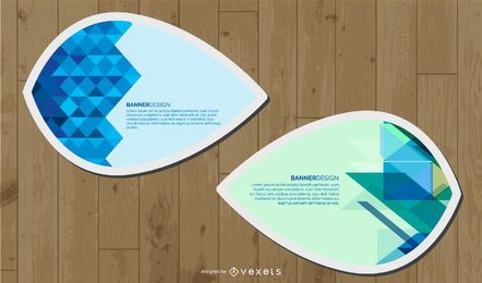Banners Web em forma de folha