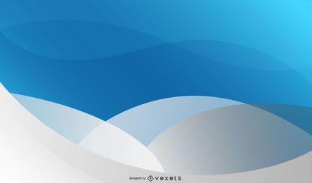 Fondo de onda azul gris con círculo