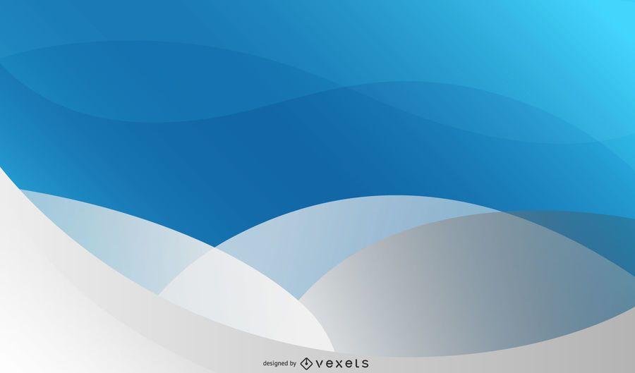 Fundo de onda de divisão cinza azul com círculo