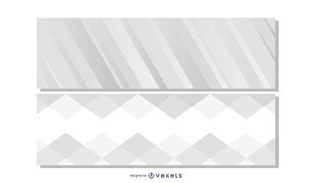 Banners de encabezado gris hermoso