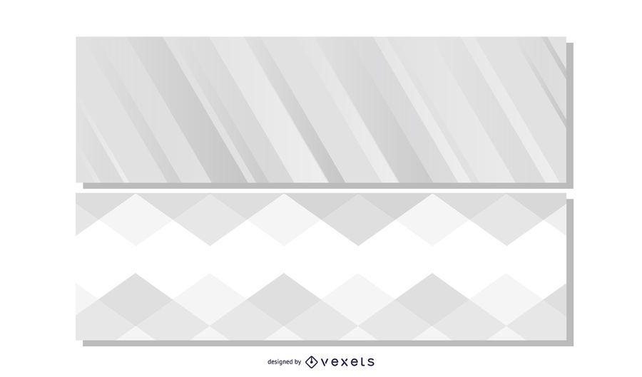 Beautiful Grey Header Banners