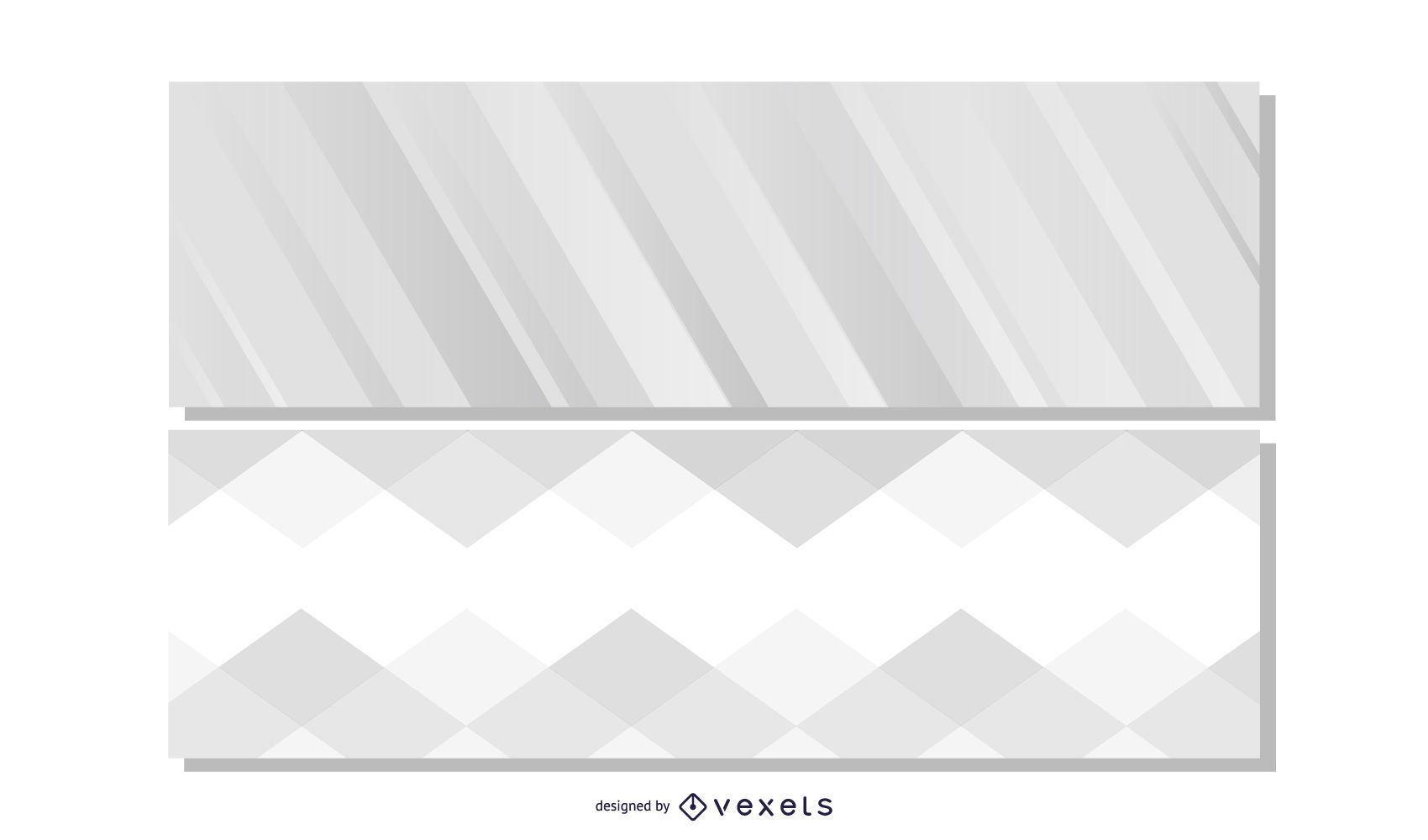 Hermosos banners de encabezado gris