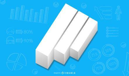 Minimal 3D que estabelece gráfico crescente