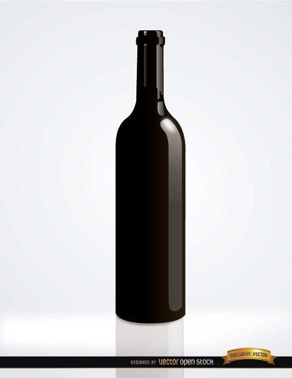 Botella de vino simple