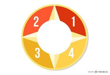 Creativo abstracto colorido circular infografía