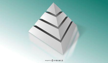 Plantilla de diagrama de pirámide gris 3D