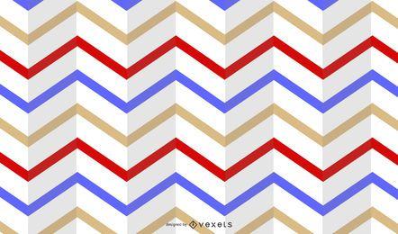 Raya horizontal doblada patrón retro multicolor