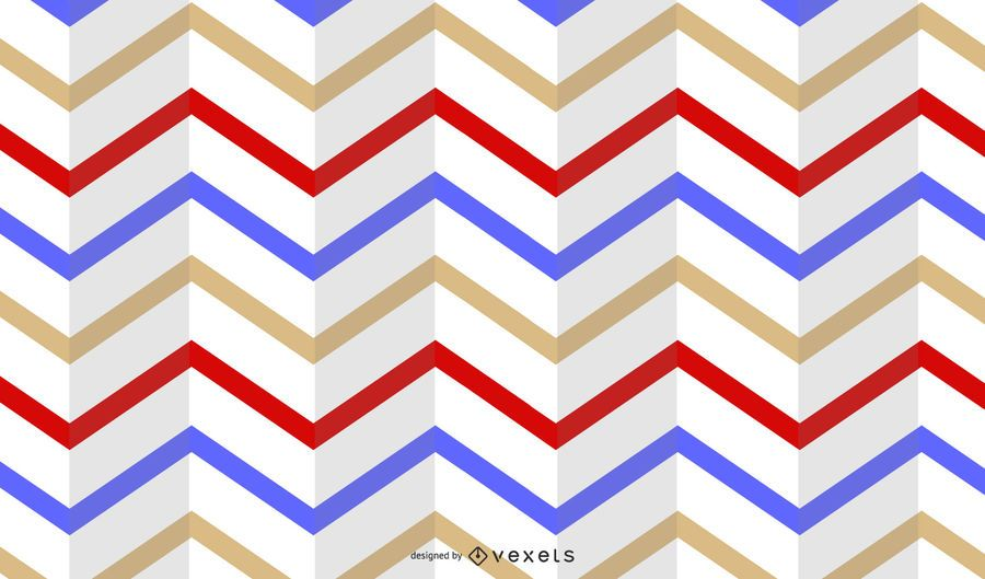 Folded Horizontal Stripe Multicolor Retro Pattern