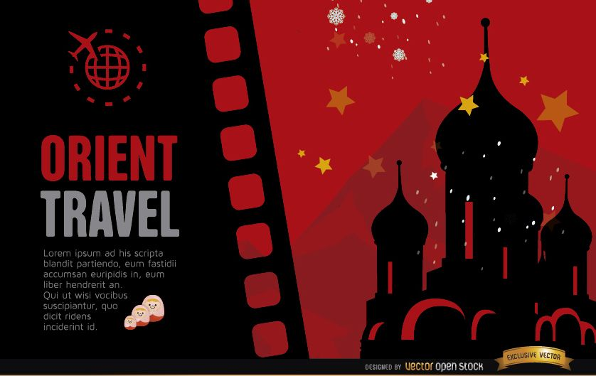 Travel to Russia background