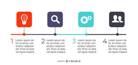 Plantilla de infografía cuadrado multicolor