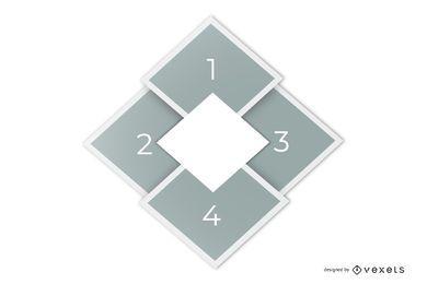Modelo de infográfico de layout elegante diamante