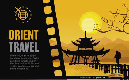 Viajar para a China de fundo