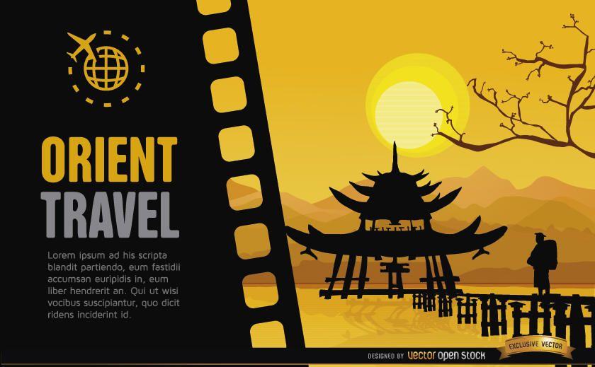 Travel to China background