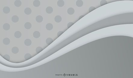 Dark Dotted Pattern & Grey Wave Background