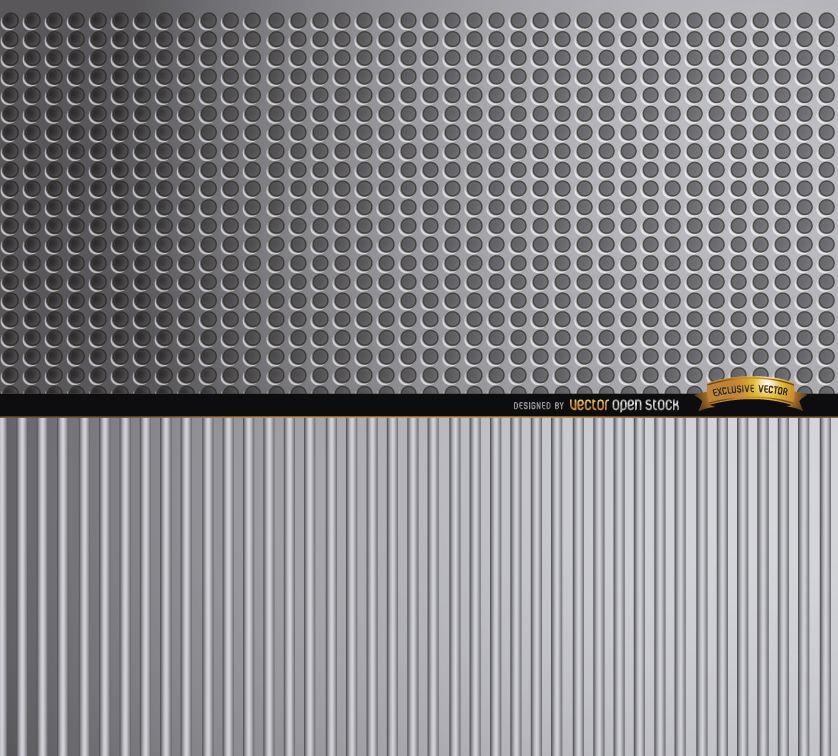 Fondo abstracto de texturas metálicas