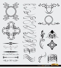 28 Decorative Celtic Gothic Arabic elements