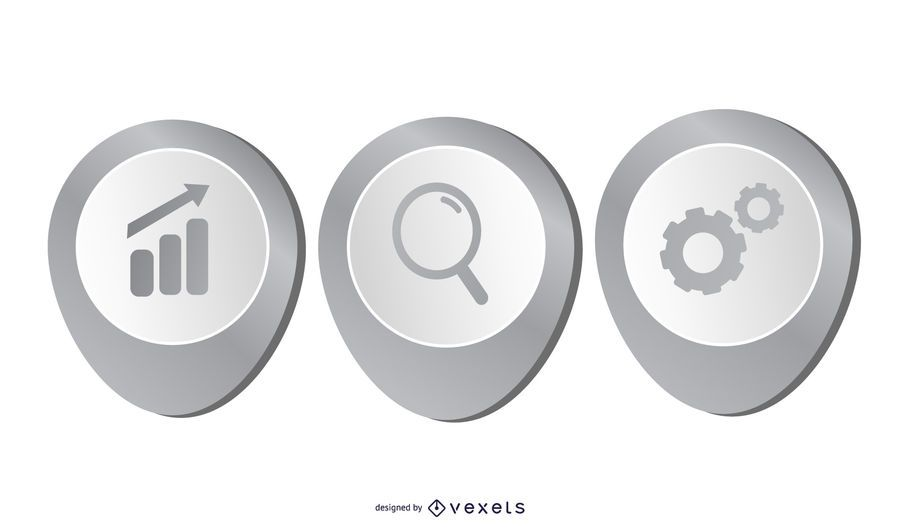 Diseño de infografía de negocios hermoso gris 3D