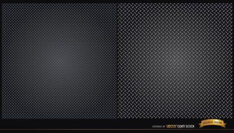 Dos patrones de textura metálica