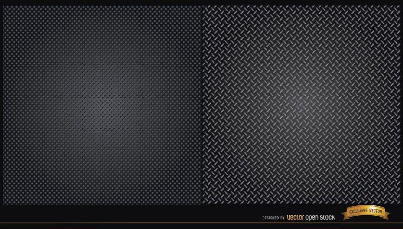 Two metallic texture patterns