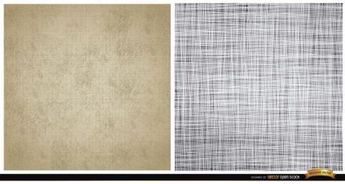 Dos patrones de textura de la lona