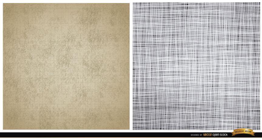 Dos patrones de textura de lienzo