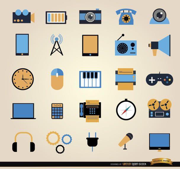25 conjunto de ícones de ferramentas de comunicação