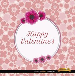 Happy Valentine?s daisies card