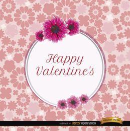 Tarjeta de margaritas de San Valentín feliz