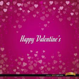 Fondo de corazones de San Valentín feliz