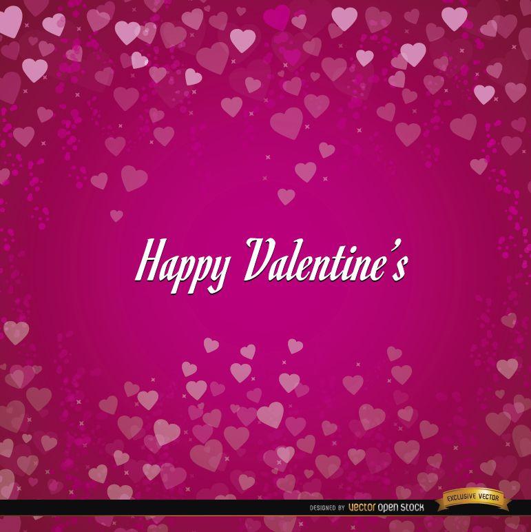 Happy Valentines hearts background