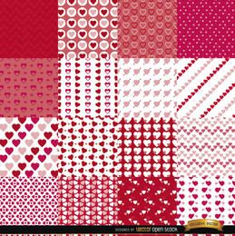 16 Valentine?s Day seamless patterns