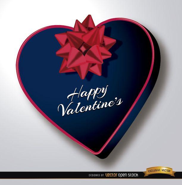 Regalo en forma de corazón de San Valentín