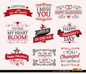 9 Valentine?s Day romantic labels