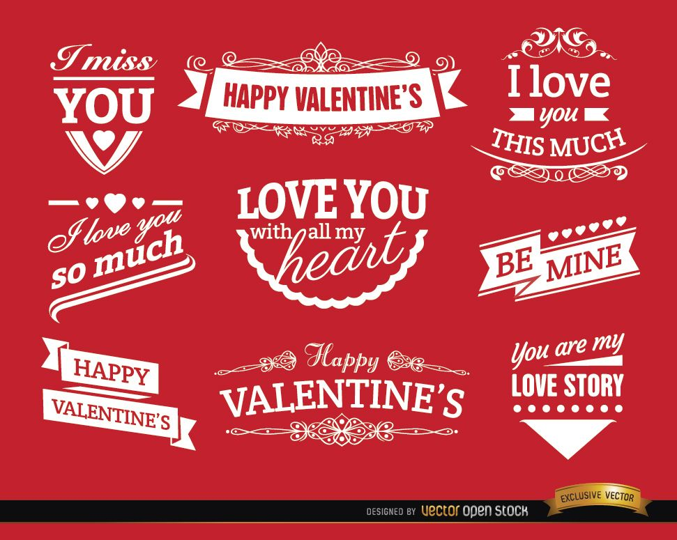 Valentine?s Day love badges